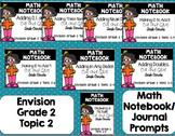 Math Envision Topic 2 Grade 2 Math Notebook Bundle