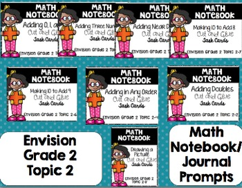 Math Envision Topic 2 Grade 2 Math Notebook Bundle