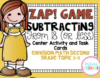 Math Envision Topic 3 Grade 3 Math Center Activities and Task Cards