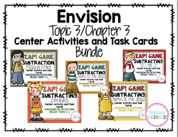 Math Envision Topic 3 Grade 3 Math Center Activities and T
