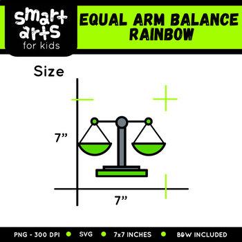 Math Equal Arm Balance Rainbow Clip Art