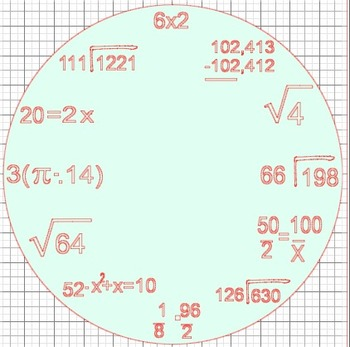 Math Equation Clock {Silhouette Cut File}