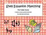 Summer Math Equation File Folder Matching Game