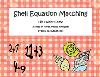 Summer Math Equation File Folder Matching Game