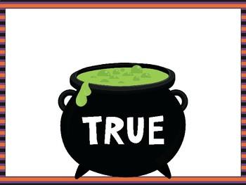 Math Equation True/False Sort - Halloween Theme