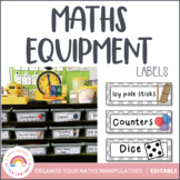 Math Tub Labels - Math Supplies
