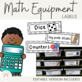 Math Tub Labels - Math Supplies