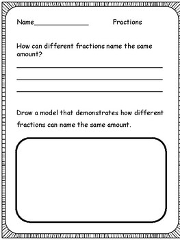 Math: Equivalent Fractions