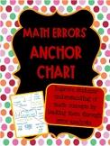 Math Error Analysis Anchor Chart