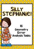 Math Error Analysis Tasks for Geometry 4th Grade