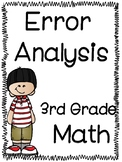 PARCC Math Error Analysis for Third Grade