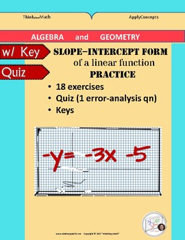 Targeted Practice: Slope-Intercept form of an equation_Isolate y.