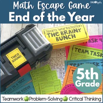 Math Escape - 5th Grade End of the Year Escape Game