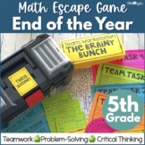 Math Escape Game - 5th Grade End of the Year Math Review