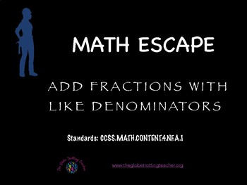 Math Escape: Add Fractions with Like Denominators