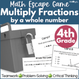 Math Escape - Multiplying Fractions by a Whole Number Game