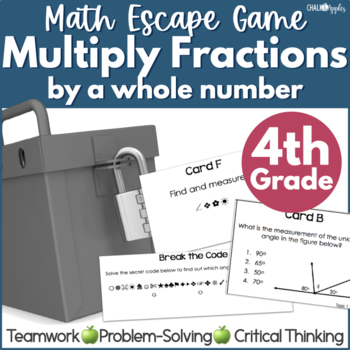 Multiplying Fractions by a Whole Number Math Escape Game