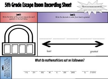 Math Escape Room 5th Grade Review (#3)