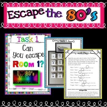 Math Escape Room Review Activity