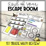1st Grade Math Review Escape Room   End of Year Math Activity