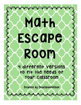 Math Escape Room Bundle (Multiplication, Division, Fractions)