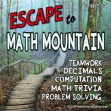 End of Year Math Escape: Decimals, Problem Solving & Crack the Code  6-8