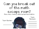 Math Escape Room EDITABLE