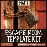 Math Escape Room Template Kit