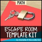 Math Escape Room Template Kit