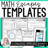 Math Escape Room Templates