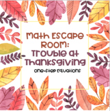 Math Escape Room: Trouble at Thanksgiving