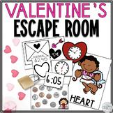 Math Escape Room: Valentine's Day (Time & Money)