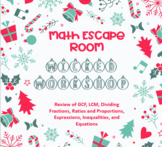 Math Escape Room: Wicked Workshop (Review of 6th Grade Math)