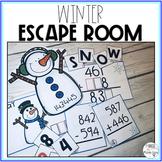 Math Escape Room: Winter Theme (Addition/Subtraction)