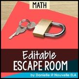 Math Escape Room (editable)