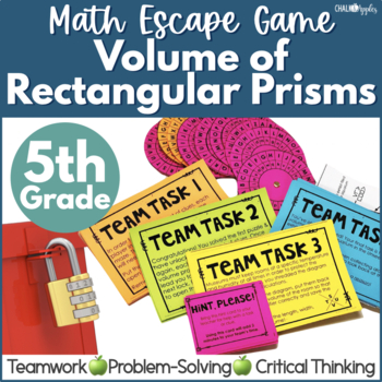 Math Escape Game - Volume of Rectangular Prisms