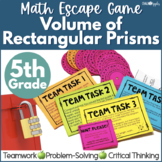 Math Escape Game - Volume of Rectangular Prisms