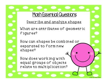 Math Essential Questions-Grade 2