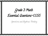 Math Essential Questions- Operations and Algebraic Thinkin