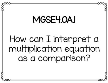 Math Essential Questions for Fourth Grade Georgia Standards of Excellence