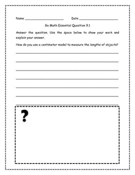 Go Math! Math Essential Questions for Grade 2, Chapter 9