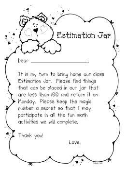 Math Estimation Jar Take Home Fun