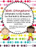 Math Everywhere! Math Printables Grades K-2 CCSS & ELA  Links