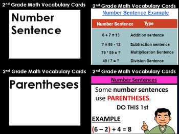 Math Lesson: Multi-Step Word Problems (TEK 2.4D) (With Vocabulary Cards)