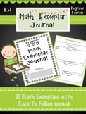 Math Exemplar Journal and Exemplar Printables for k-1