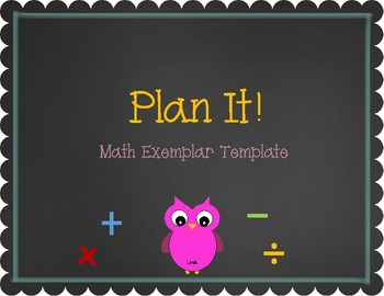 Math Exemplar Template and Checklist