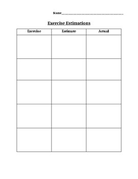 Math-Exercise Estimation
