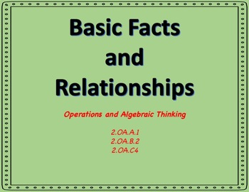 Math Exit Slip Booklets Second Grade (Basic Facts and Relationships)