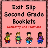 Math Exit Slips  (Geometry and Fractions)