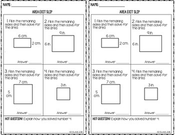 Math Exit Slip Bundle